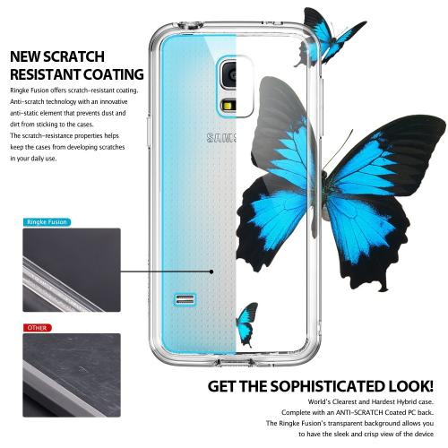 Samsung Galaxy S5 Mini Case - Ringke Fusion Case [free Hd Film/drop Protection][Clear] Shock Absorption Bumper Premium Hybrid Hard Case