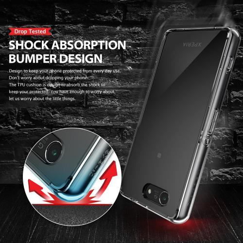 Xperia Z3 Compact [ringke] Hybrid Case - Premium Slim Protective Hybrid Shockproof Bumper Case W/ Free Screen Protector Included