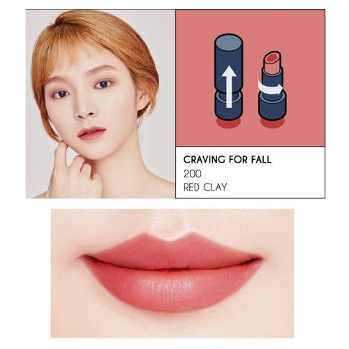 [K-Beauty] OKA Lipstick [Craving For Fall-Red Clay #200]