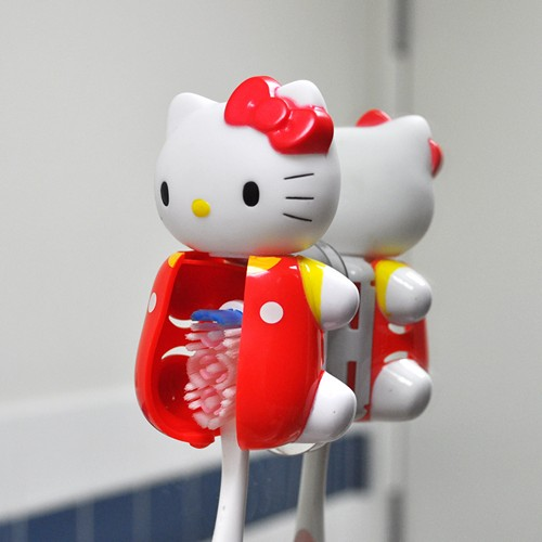 Officially Licensed Sanrio Classic Hello Kitty Flipper Toothbrush Holder