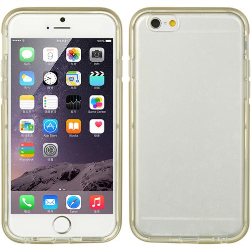 Made for Apple iPhone 6/ 6S Case, [Clear] Slim Flexible Anti-shock Crystal Silicone Protective TPU Gel Skin Case Cover w/ Gold PC Bumper by Redshield