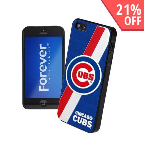 Made for Apple iPhone SE / 5 / 5S  Case, MLB Licensed [Chicago Cubs]  Premium Hard Back Cover w/ Silicone Case by MLB