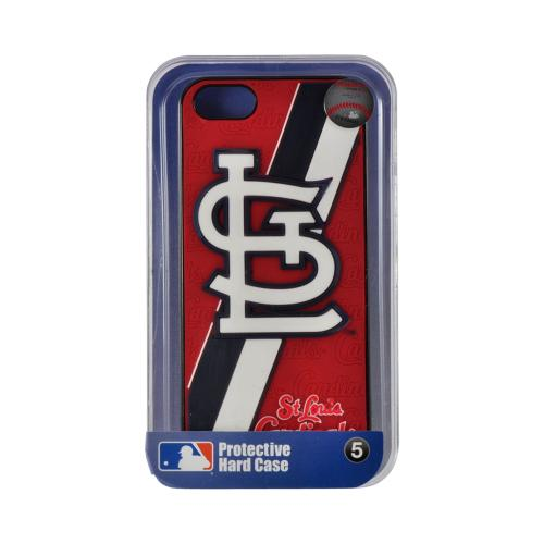 Made for Apple iPhone SE / 5 / 5S  Case, MLB Licensed [St. Louis Cardinals]  Premium Hard Back Cover w/ Silicone Case by MLB