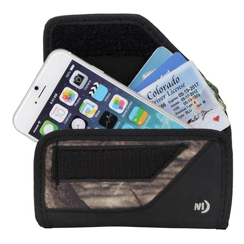 Nite Ize Horizontal Clip Cargo Nylon Holster Pouch Case [Mossy Oak] w/ Velcro Closure for Large Devices