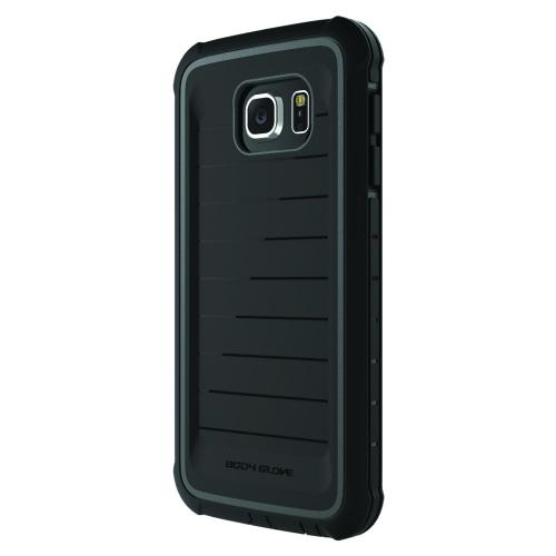 Samsung Galaxy S6 Case, Body Glove [Black]  ShockSuit Series Ultra Rugged, Shockingly Thin Dual Layer Hybrid Protective Case