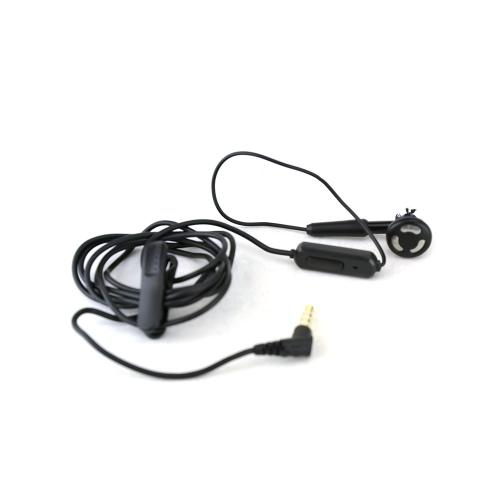Black In Ear Universal 3.5mm Mono Handsfree Headset with On & Off Button & Mic