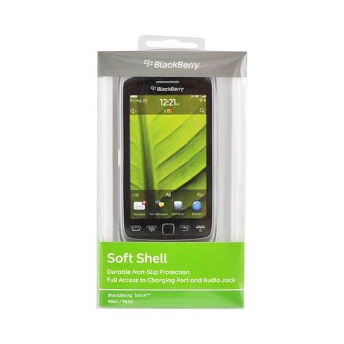 Original Blackberry Torch 9860, 9850 Crystal Silicone Case, ACC-38966-302 - Clear/ Frost