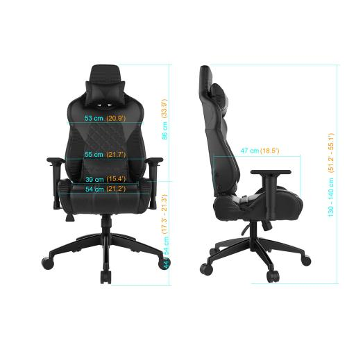 [Gamdias] Achilles E1-L Multifunction PC Gaming Chair w/ RGB Customizable Streaming Lighting [Black/ Red]