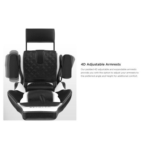 [Gamdias] Achilles P1-L Multifunction PC Gaming Chair w/ RGB Customizable Streaming Lighting & Adjustable Footrest [Black]