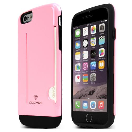 Made for Apple iPhone 6/ 6S Case, ADAMAS [Pink] Slim Protective Crystal Glossy Snap-on Hard Polycarbonate Plastic Case Cover by Adamas