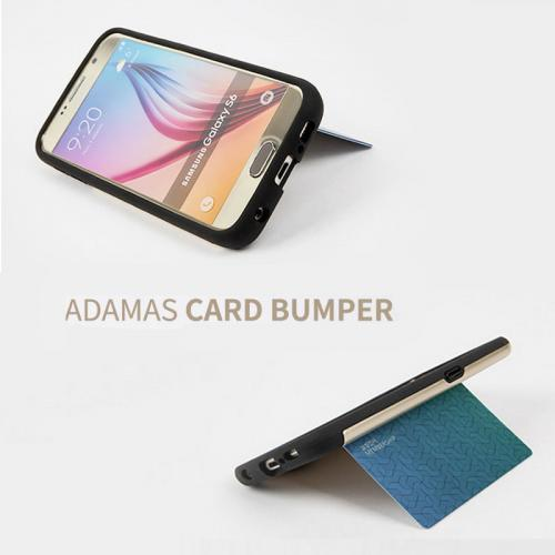 Made for Apple iPhone 6 PLUS/6S PLUS (5.5 inch) Case, Adamas Series [Black] Slim Card Bumper Form-Fitting Hard Plastic Protective Case Cover by Adamas