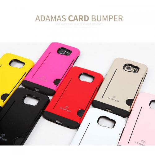 Apple iPhone 6 PLUS/6S PLUS (5.5 inch) Case, Adamas Series [Black] Slim Card Bumper Form-Fitting Hard Plastic Protective Case Cover