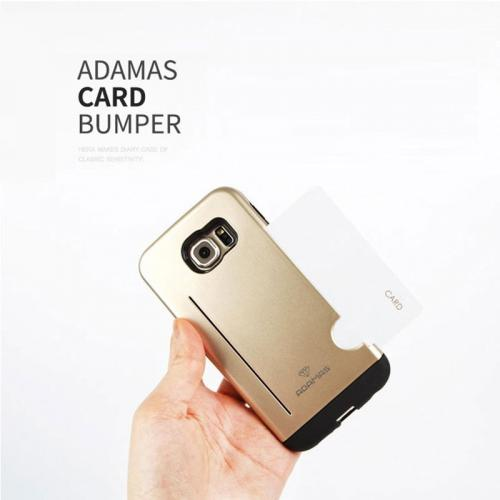 Made for Apple iPhone 6 PLUS/6S PLUS (5.5 inch) Case, Adamas Series [Gold] Slim Card Bumper Form-Fitting Hard Plastic Protective Case Cover by Adamas