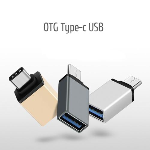 USB to Type-C Adapter (USB-C TO USB-A) OTG Convert Connector [Silver]