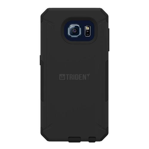 Galaxy S6 Case, Trident Aegis Series [Black] Durable Protective Dual Layer Hybrid Case For Samsung Galaxy S6 + Free Screen Protector
