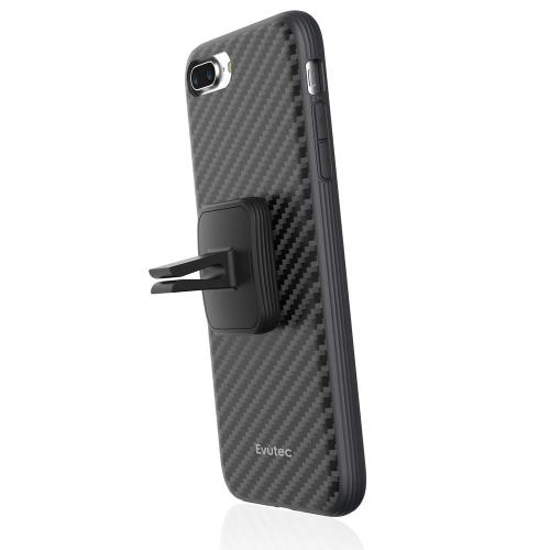 Made for Apple iPhone 8/7/6S/6 Case, Evutec - Karbon AER Scratch Resistant [Reinforced Kevlar Fibers] Hard Case w/ Vent Mount [Black] by Evutec