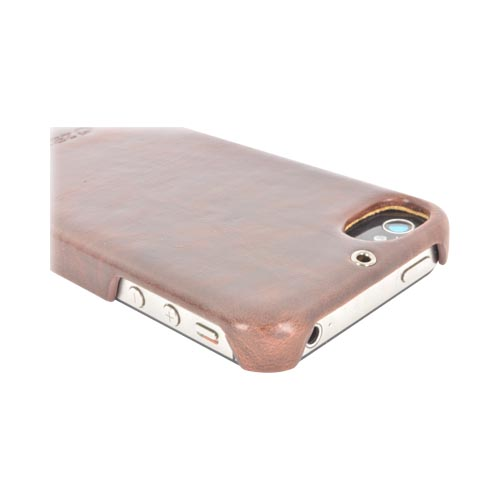 Original Zenus AT&T/ Verizon Apple iPhone 4, iPhone 4S Masstige Leather Bar Series Case, APIP4-MLLBA-BC - Dark Chocolate