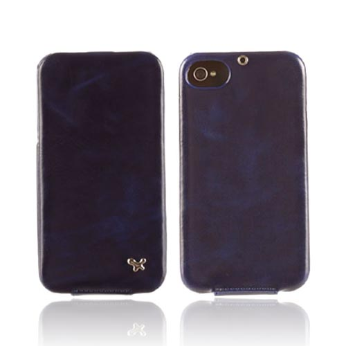 Original Zenus AT&T/ Verizon Apple iPhone 4, iPhone 4S Masstige Leather Folder Series Case, APIP4-MLLFD-NV - Navy