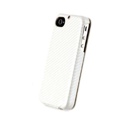 Original Zenus AT&T/ Verizon Apple iPhone 4, iPhone 4S Prestige Leather Carbon Folder Series Case, APIP4-PC5FD-WH