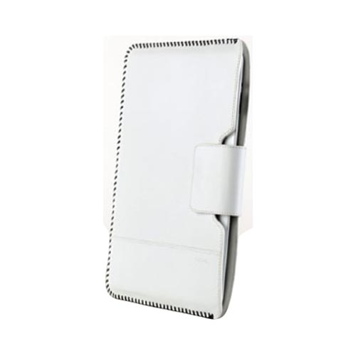Original Zenus Apple iPad 2 Prestige Handcrafted Stich Leather Pouch Case, APPD2-PH5PO-WH - White