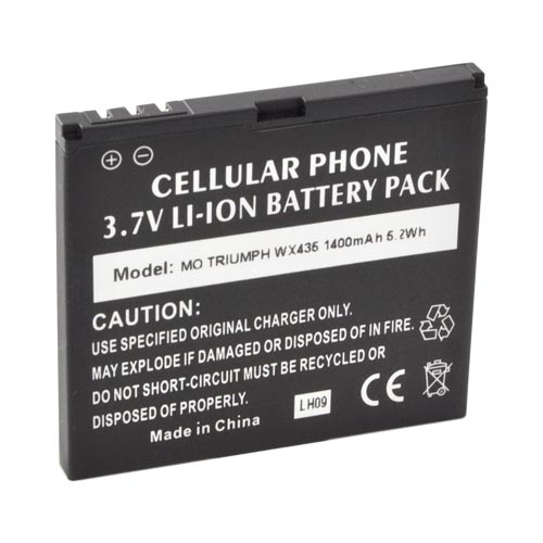 Motorola Triumph Standard Battery Replacement (1400 mAh) - Black