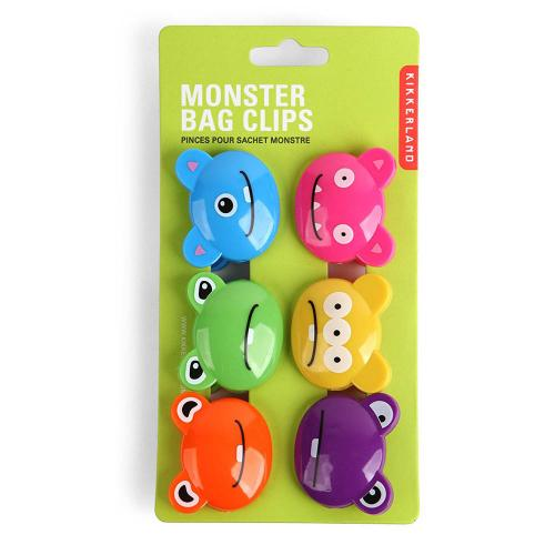 [Kikkerland] Rainbow Monsters Bag Clips - Set of 6!