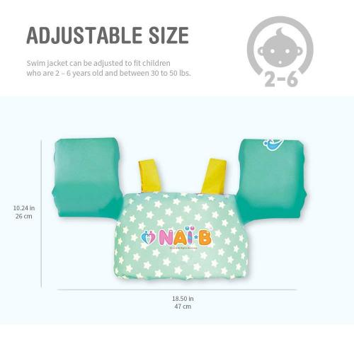 Nai-B Arm Band Puddle Jumper. Inflatable Baby Life Vest, Floatie for Swimming Pool, Swim Jacket for Infants, Toddlers, and Kids