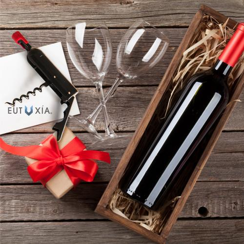 Eutuxia Wine & Beer Bottle Opener with Waiters Corkscrew Extractor. Folding Compact Design with Magnetic Backing for Convenient Storage. Perfect Item for Enthusiasts. Easily Pull Corks and Enjoy Wine.