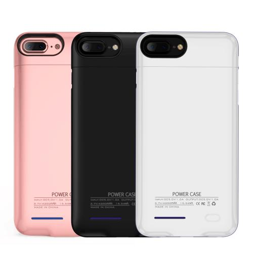 Apple iPhone 8/7/6S/6 Plus Charging Case, [3000mAh] Rechargeable External Power Battery Charging Case [White]