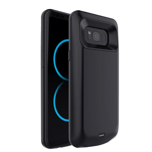 Samsung Galaxy S8 Charging Case, [5000mAh] Rechargeable External Power Battery Charging Case [Black]