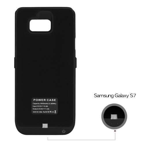 Samsung Galaxy S7 Charging Case, [Black] 3200mAh Rechargeable External Power Case w/ Kickstand
