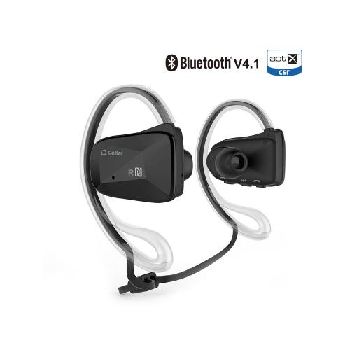 Sports-Fit Bluetooth V4.1 Stereo Headset with NFC Connection [Black]