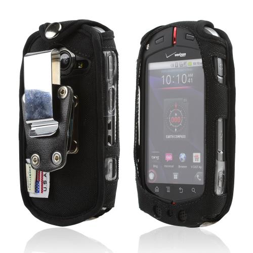 Original Turtleback Casio G'zOne Commando C771 Heavy Duty Nylon case w/ Steel Belt Clip - Black