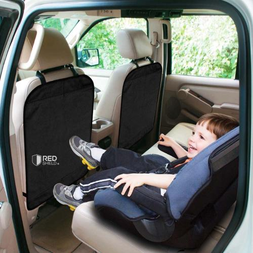 REDshield Car Seat Protector, [Black] Auto Car Seat Back Protector Kick Mat Protects From Dirt, Scuffs & Scratches