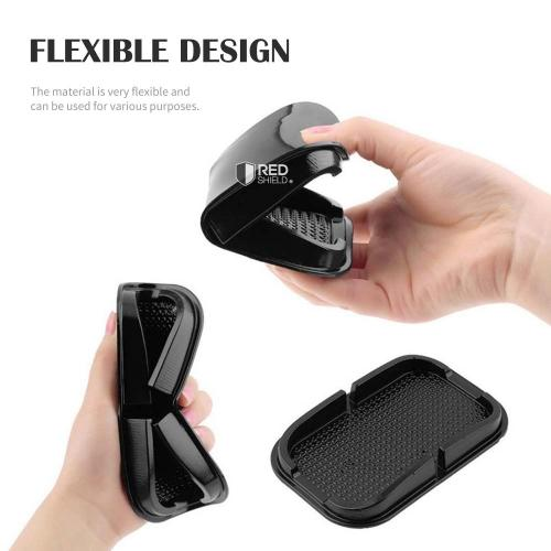 Car Dashboard Holder Cradle Dock Sticky Pad Mat [Black]