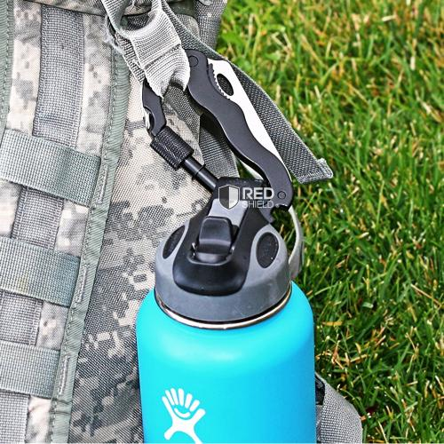 Aluminum Multi-Function 5 in 1 Carabiner Survival Tool - Perfect for Camping!