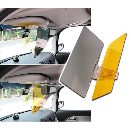 03c462d0 RED SHIELD Car Sun Visor Extender. 2 Transparent Anti-Glare Tinted Shields  for Day and Night. Blocks UV Rays Through Windshield. Universal for All  Vehicles.