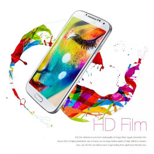 5 Piece Bundle of High Definition Ultra Premium Clear Screen Protectors for Samsung Galaxy S4