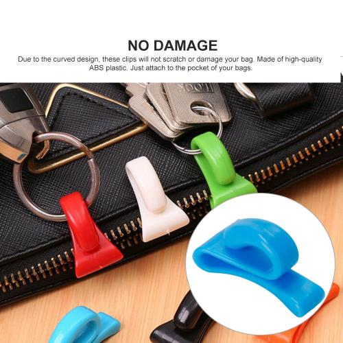 Key Clips, [2 Pack] Key Hook Hangers, Anti-lost Key Organizers Perfect for Purses, Bags, & Backpacks! [Random Color]