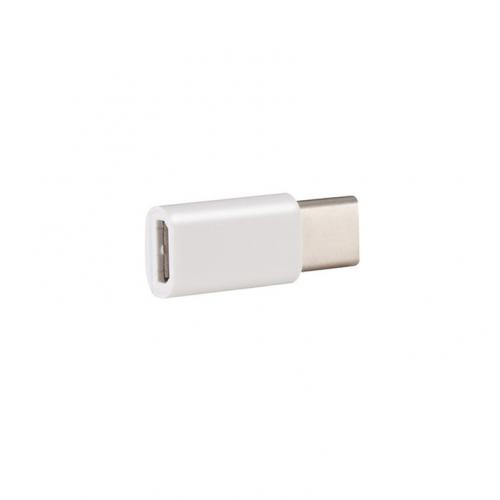 USB type C Male to Micro USB Female Adapter [White]