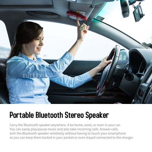 RED SHIELD CODA-S Portable Wireless Bluetooth Speaker with Loud Stereo Sound & Built-In Mic. Handsfree & Handset Phone Calls, Listen to Music. 3 Bonus Mounts. Perfect for iPhone & Android. [Red]