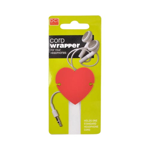 Headset Cord Wrapper - Red Heart