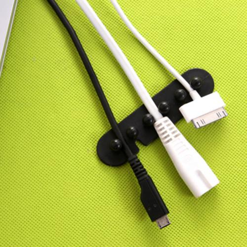 Tidy Cord Organizer [Black] Perfect For Desktop Cable Management!