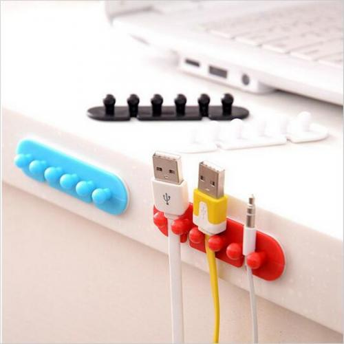 Tidy Cord Organizer [Red Perfect For Desktop Cable Management!