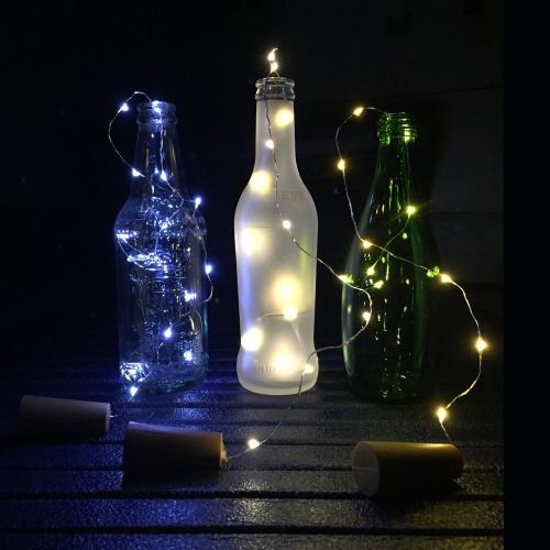 Bottle Cork Lights, [78 inch/ 2M] 20 LED String Lights [White] Perfect for Wine Bottle DIY, Party, Table Decor, Christmas, Halloween, Wedding Centerpieces and More!