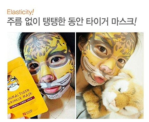[SNP] Animal Tiger Wrinkle Mask 0.85Oz/25Ml x 10 pack - 1 Box