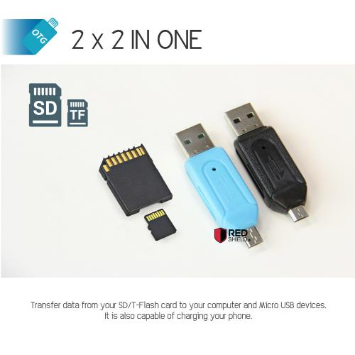 Black Universal Micro SD Flash USB Memory Card Reader For Mobile Phone & PC!