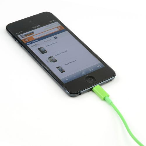Lively Lime Green 6 ft. Charge & Sync Lightning Cable for Apple iPhone 5/5S/ iPod Touch 5/ New iPad/ iPad Mini