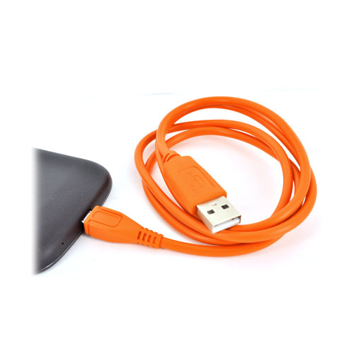 USB to Micro USB Data Cable - Outrageous Orange
