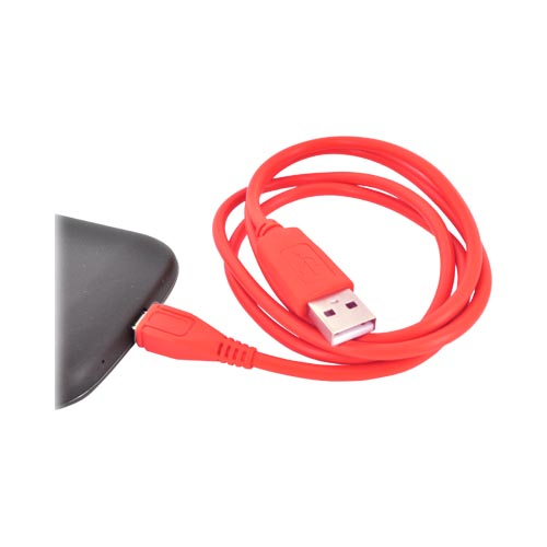 USB to Micro USB Data Cable - Rad Red